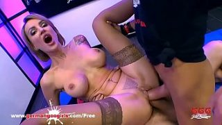 Gorgeous Russian MILF Elen Million gets her holes fucked hard by super big cocks and her face cum covered in a huge bukkake gangbang! German Goo Girls