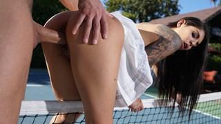 Gina Valentina fodeu duro ATM Quadra de tênis Tramp Coitus