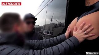 Lucky German Amateur Fucks Hot Blonde In The Sex Bus – LETSDOEIT.COM