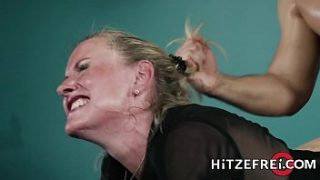 Sexy mature German babe has her pussy fucked by a younger man