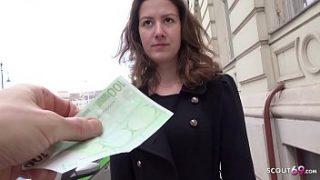 GERMAN SCOUT – Schuelerin Alessandra auf der Strasse angesprochen und ohne Kondom gevoegelt