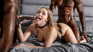 A fantasia interracial de BDSM de Alina Lopez finalmente se torna realidade