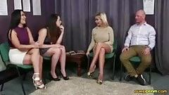 Hottest Leg Fucking three Women