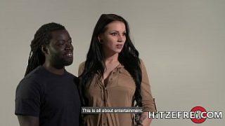 Busty German babe takes on a big black cock