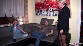 Neffe darf seine eigene Tante mit den grossen Titten zusammen mit ihrem Ehemann ficken
